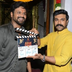 Ram Charan at Aham Brahmasmi Movie Opening