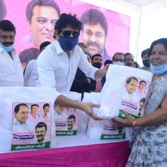 Photos: Celebs Distribute Talasani Trust Groceries to TFI Workers