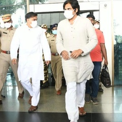 PawanKalyan at Rajahmundry Airport to Meet Divis Pharma Victims