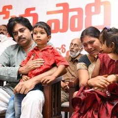 Pawan Kalyan Console Vengayya Naidu Family